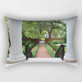 View From The Portico Rectangular Pillow