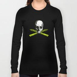 skull asparagus Long Sleeve T-shirt