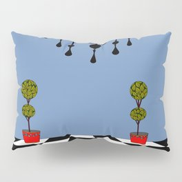 A Chandler with Checkered Tile and Topiaries Pillow Sham