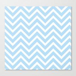 Chevron Stripes : Blue & White Canvas Print