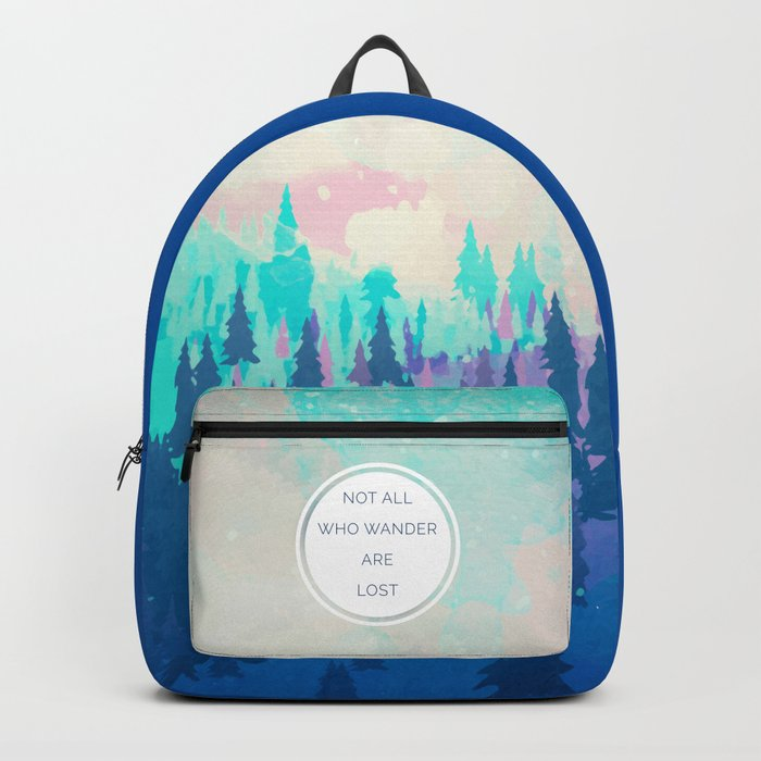 All Who Wander Travel Quote Backpack