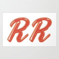 RR Diner Neon Art Print