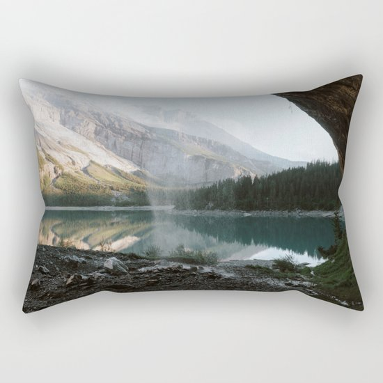 Mountain Lake Vibes III - Landscape Photography Rectangular Pillow