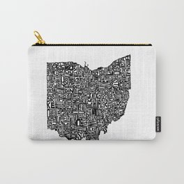 Typographic Ohio Carry-All Pouch