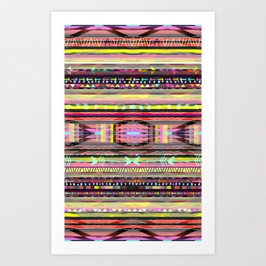 Electric Neon Valley Art Print