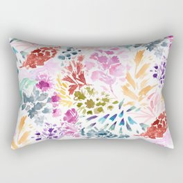 cornelia. watercolor florals. Rectangular Pillow
