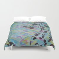 camo Duvet Covers featuring Camo by Caballos of Colour
