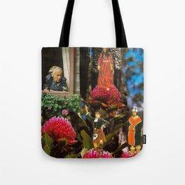Cross Pollination on the Waratah Tote Bag