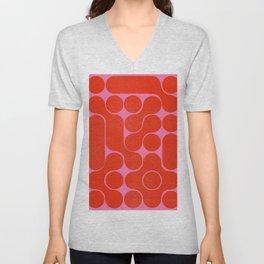 Abstract mid-century shapes no 6 Unisex V-Neck