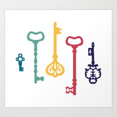 Fairy keys Art Print