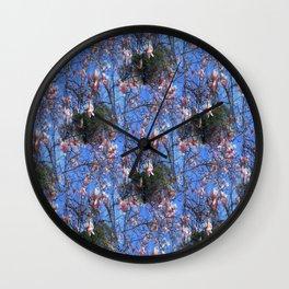 Magnolias in the mountain sky...... Wall Clock