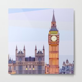 Geometric Big Ben, London, UK Metal Print