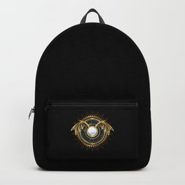 Mechanical Dragon Wings with a Lens ( Steampunk ) Backpack