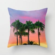 Sunset tropical vibes Throw Pillow