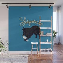 Shipwrecke (Blue and Beige) Wall Mural