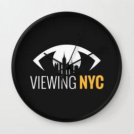 Viewing NYC Logo Stacked Wall Clock