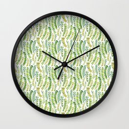 Fern Pattern Wall Clock