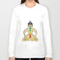 yoga Long Sleeve T-shirts featuring YOGA by Gianluca Floris