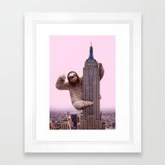 KING SLOTH Framed Art Print