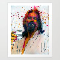 the dude Art Prints featuring dude by benjamin james