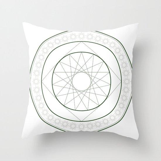 Anime Magic Circle 4 Throw Pillow