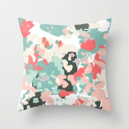 Nashe - abstract painting trendy color bright modern painting for dorm urban beach decor southern  Throw Pillow