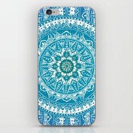 Aquamarine Mandala Pattern iPhone Skin