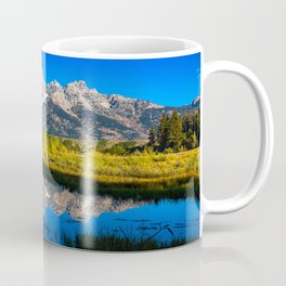 Grand Teton - Reflection at Schwabacher's Landing Coffee Mug