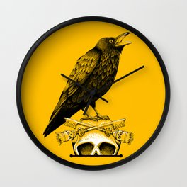 Black Crow, Skull and Cross Keys Wall Clock