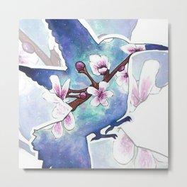 Cherry blossom bird Metal Print