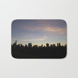 New York Skyline at Dusk  Bath Mat