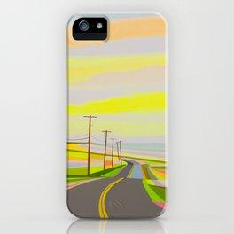 Sunrise on Old montauk Highway iPhone Case