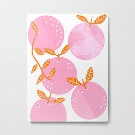 Pink oranges Metal Print