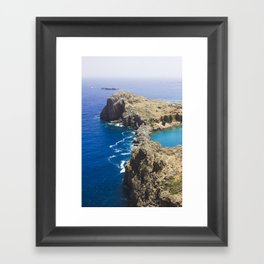 Sea and earth Framed Art Print