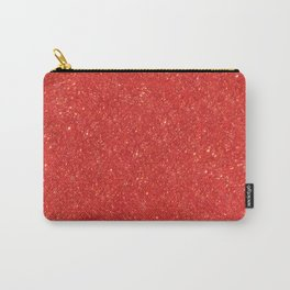 Red Glitter Carry-All Pouch
