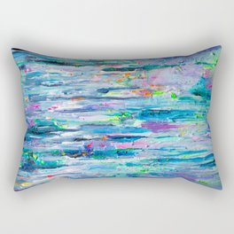 Silver Rain Rectangular Pillow