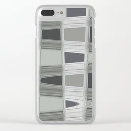 Silver Streak Clear iPhone Case