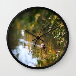 Duck pond Wall Clock