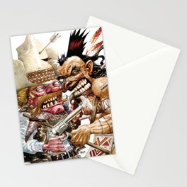 cowboy and native american Stationery Cards