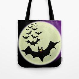 Bats and Moon Tote Bag