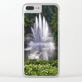 Butchart Garden Fountain Clear iPhone Case