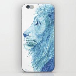 Blue Majestic Lion iPhone Skin