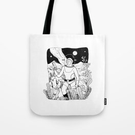 the space cowboy Tote Bag