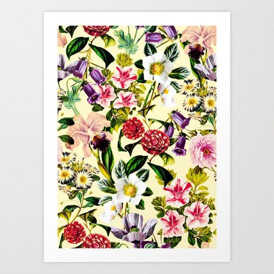SUMMER BOTANICAL X Art Print