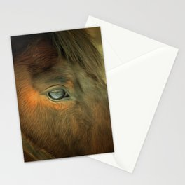 Horse Eye Close Up. Golden Age Painting Style. Stationery Cards