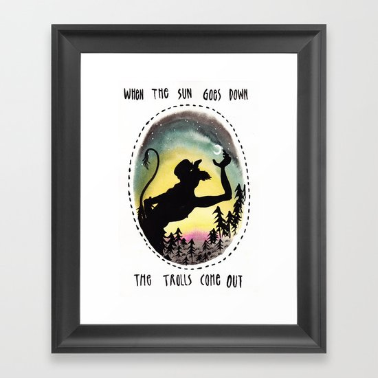 Trolls Framed Art Print