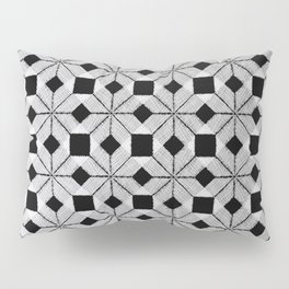 Silver Snow, Snowflakes #01 Pillow Sham