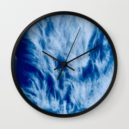 Blue Sky with Clouds Weather Atmosphere Beautiful  Wall Clock