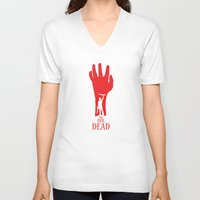 evil dead V-neck T-shirts featuring Evil Dead by Alan Coughlan