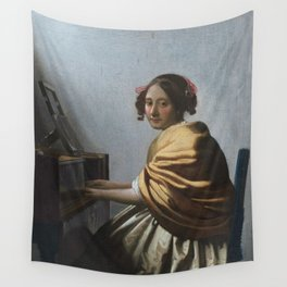 """Johannes Vermeer """"A Young Woman Seated at the Virginal"""" Wall Tapestry"""